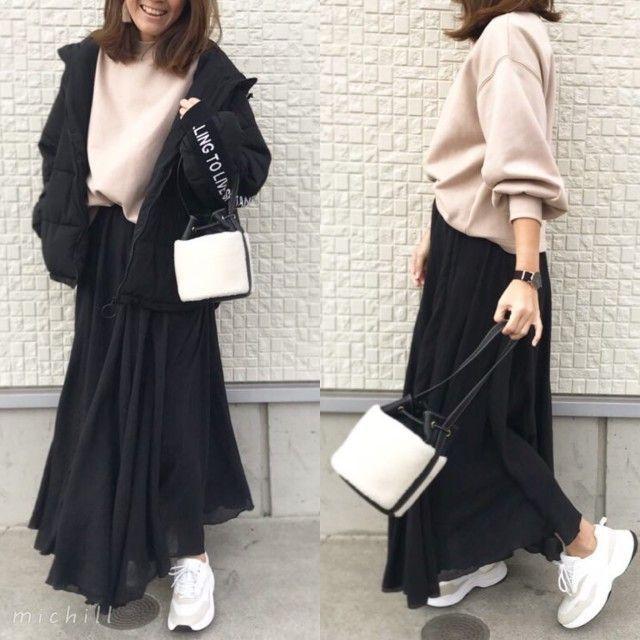 2019春まで着られる♡GU話題のスウェットで女っぽトレンドコーデ