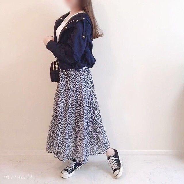 GU花柄スカートは着回し力バツグン♡春の着回しコーデ6style
