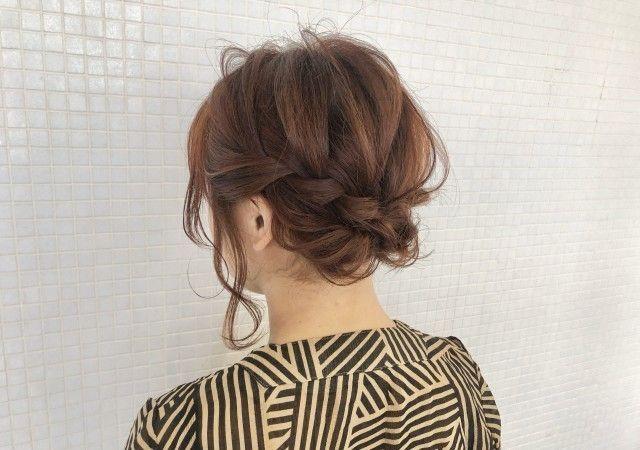 ボブヘアの方向け 結婚式で自分でできるヘアスタイル15選