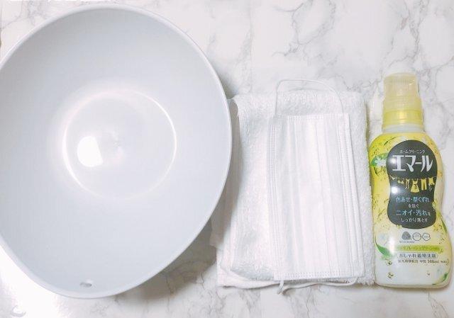 マスク 洗剤 洗い 使い捨て の 方