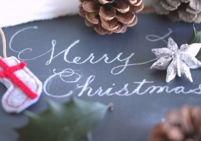 クリスマス カード ライン
