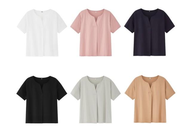 ユニクロ キーネックTシャツ