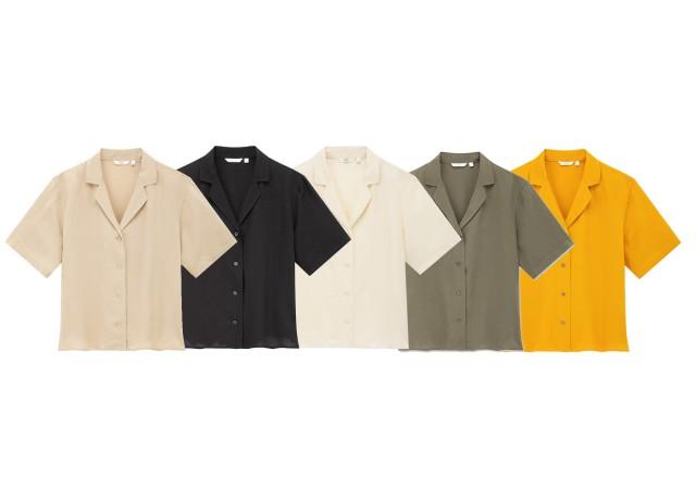 ユニクロ リネンブレンドオープンカラーシャツ カラーバリエーション