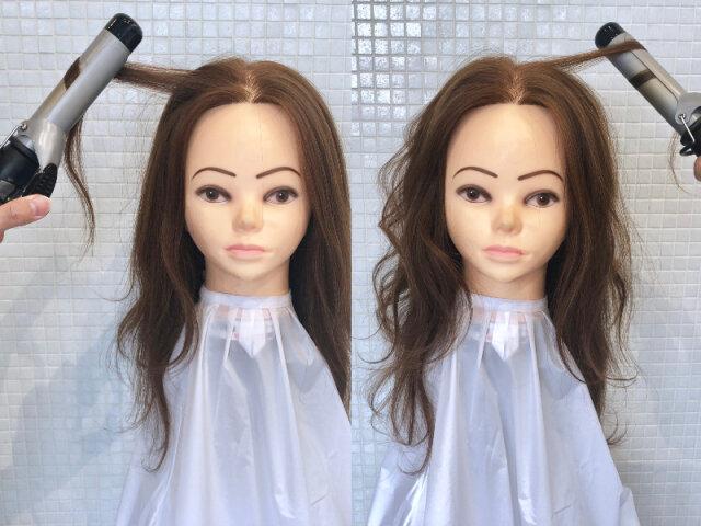 丸顔 巻き髪
