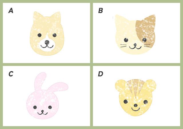 心理テスト 犬 猫 ウサギ リス イラスト