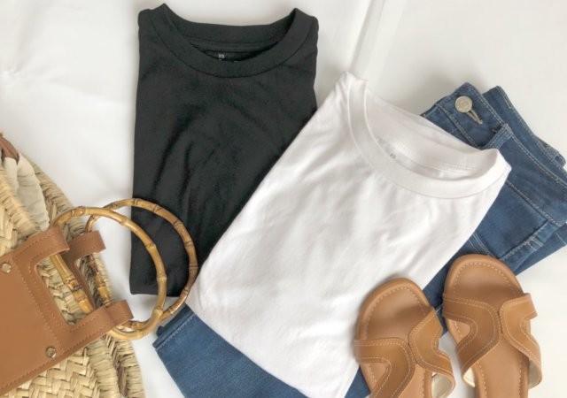 Tシャツ 無印良品 黒T 白T 夏コーデ