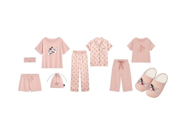 GU ディズニー ピンク パジャマ ルームウェア