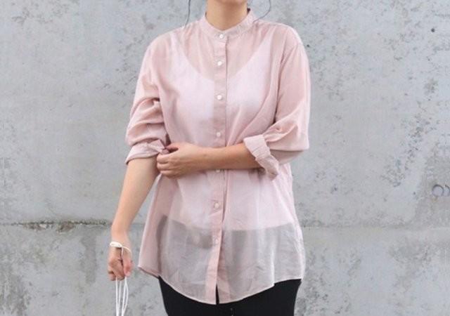 ユニクロ Uniqlo U シアーバンドカラーシャツ コーデ