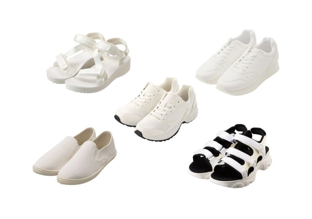 GU 白スニーカー スポサン スポーツサンダル 靴