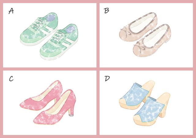 心理テスト イラスト 靴