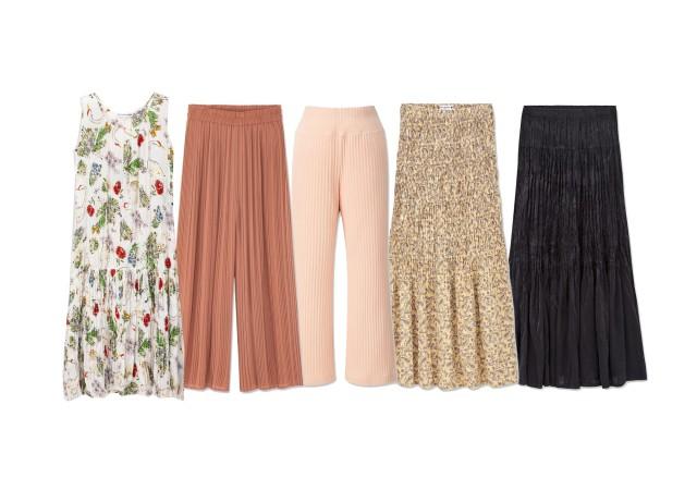 ユニクロ プリーツ スカート パンツ