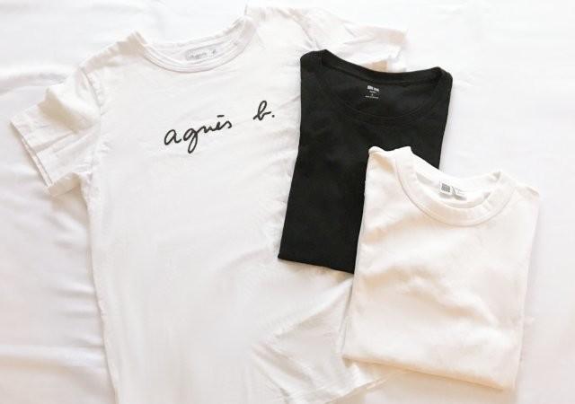 Tシャツ 白T 黒T ロゴT アニエスベー