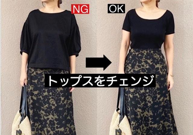 スカート GU セール 値下げ 完売 フラワープリントAラインロングスカート NGコーデ 着回し コーデ 低身長