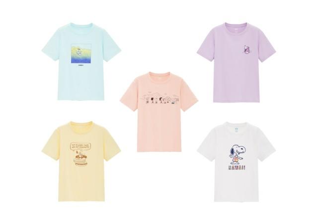 ユニクロ スヌーピー ピーナッツ コラボ Tシャツ 画像