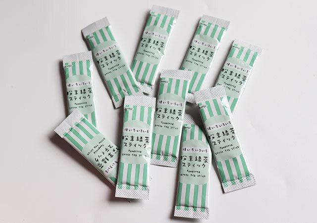 ダイソー 粉末緑茶スティック 国産 12本入り