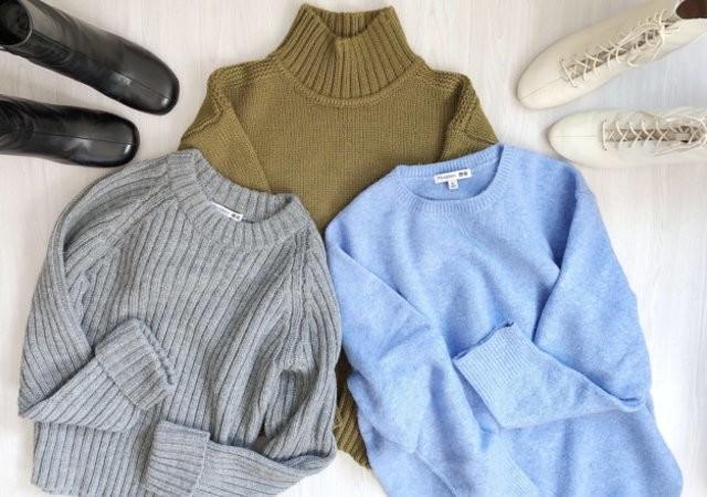 ユニクロ JW ANDERSON タートルネックセーター スフレヤーンクルーネックセーター クロップドクルーネックセーター 画像