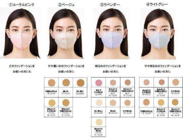 マスク 色 顔 印象 カラーマスク 色別 肌