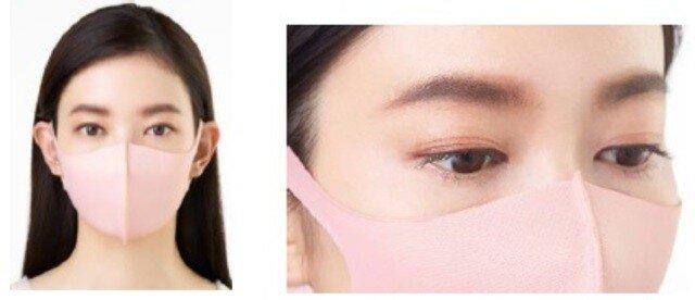 マスク 色 顔 印象 コーラルピンク メイク 肌