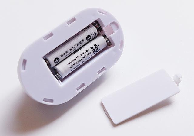 ダイソー プッシュライト 電池
