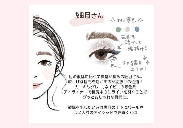 細目 アイメイク