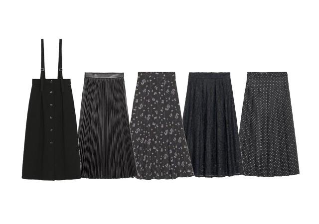 GU スカート 黒 画像
