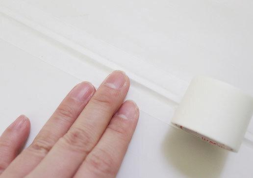 ダイソー マスキングテープ カビ汚れ防止 画像 新作 白 ワイド 配線収納